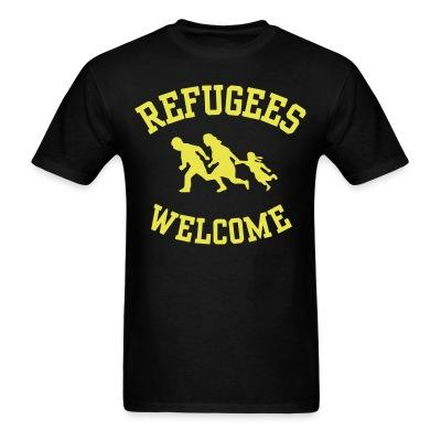 Refugees welcome Antifa - Anti-racist - Anti-nazi - Anti-fascist - RASH - Red And Anarchist Skinheads