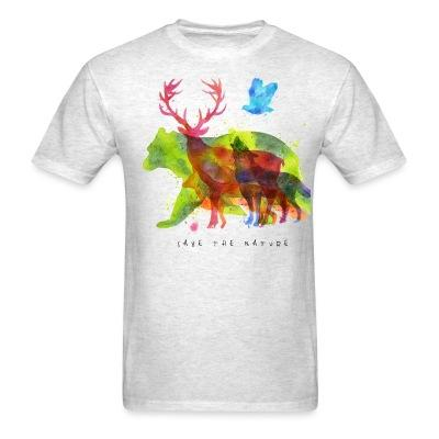 T-shirt Save the nature