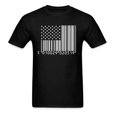 USA Flag Barcode