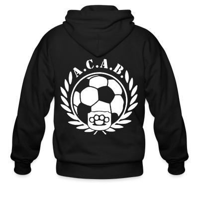 Sweat zippé A.C.A.B. Football