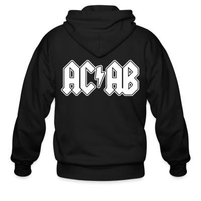 Sweat zippé ACAB ACDC
