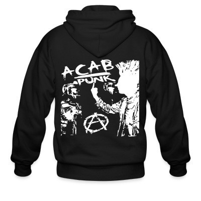 Sweat zippé ACAB punk