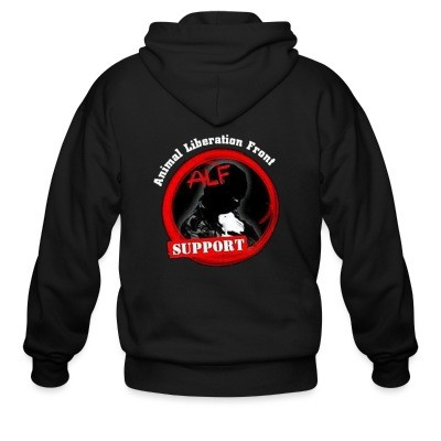 Sweat zippé ALF Animal Liberation Front support