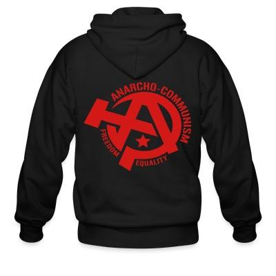 Sweat zippé Anarcho-communism. Freedom, equality