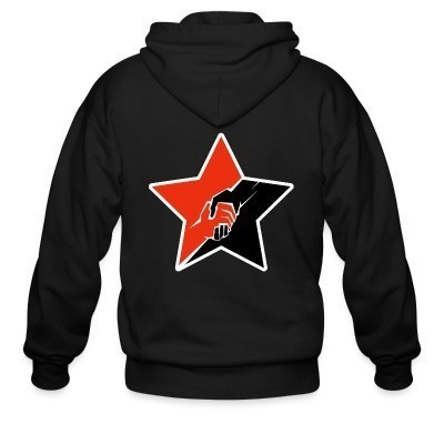 Sweat zippé Anarcho-Communist Red & Black Star