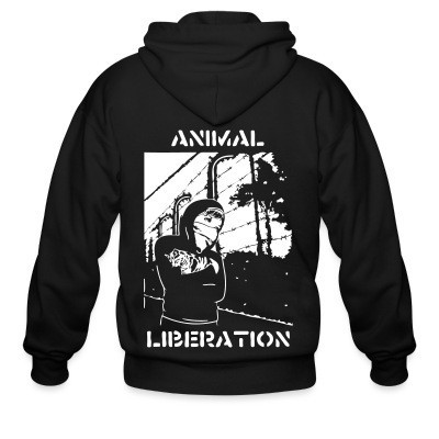 Sweat zippé Animal liberation