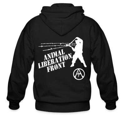 Sweat zippé Animal Liberation Front - ALF