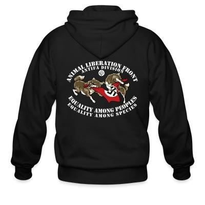 Sweat zippé Animal Liberation Front antifa division - equality among peoples, equality among species