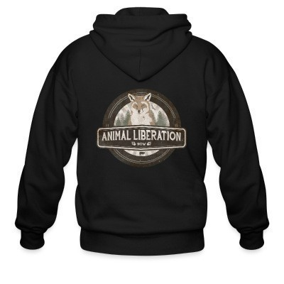 Sweat zippé Animal liberation now