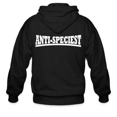Sweat zippé Anti-speciest