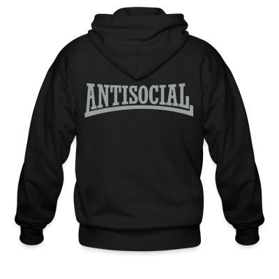 Sweat zippé Antisocial