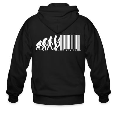 Sweat zippé Bar code evolution