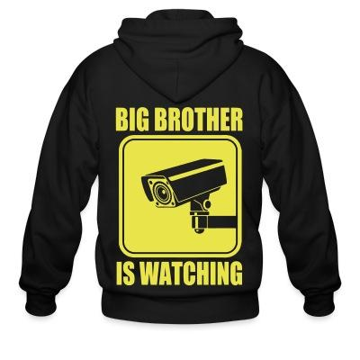 Sweat zippé Big brother is watching