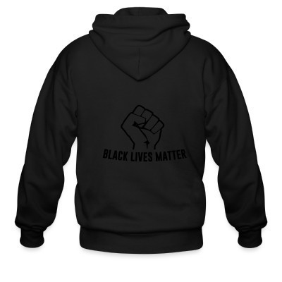 Sweat zippé Black lives matter