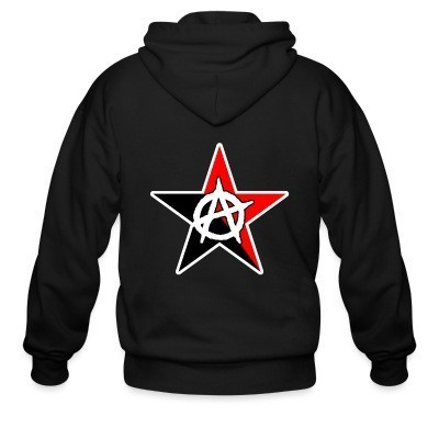 Sweat zippé Black & Red Anarchist Star