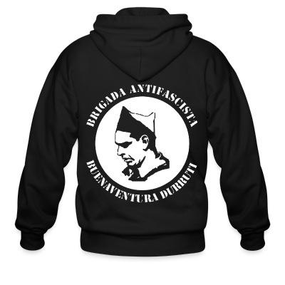 Sweat zippé Brigada antifascista - Buenaventura Durruti