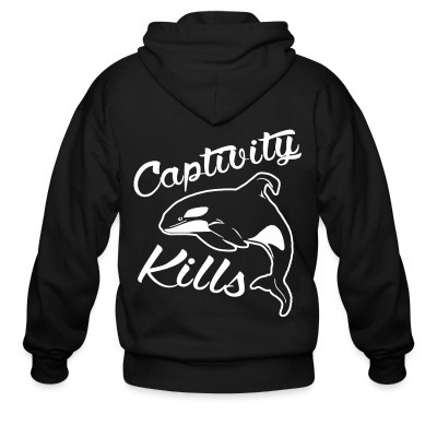 Sweat zippé Captivity kills