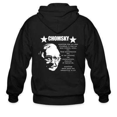 Sweat zippé Chomsky - Anarchism means peace and tranquility to all