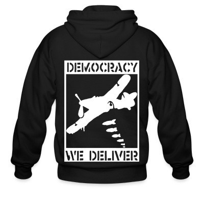 Sweat zippé Democracy we deliver