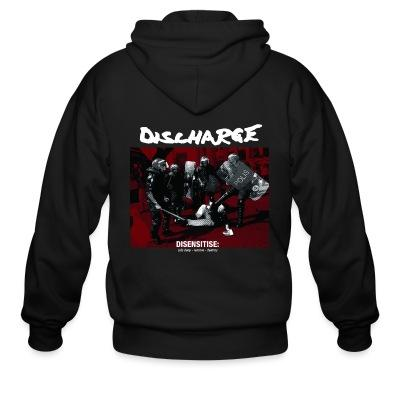 Sweat zippé Discharge - disensitise: (vb) deny - remove - destroy