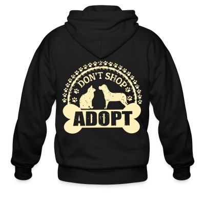 Sweat zippé Don't shop adopt