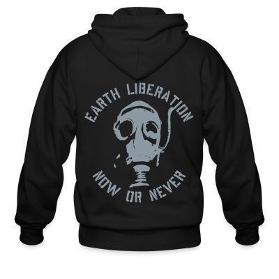 Sweat zippé Earth liberation - now or never