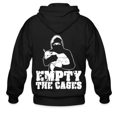 Sweat zippé Empty the cages