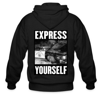 Sweat zippé Express yourself