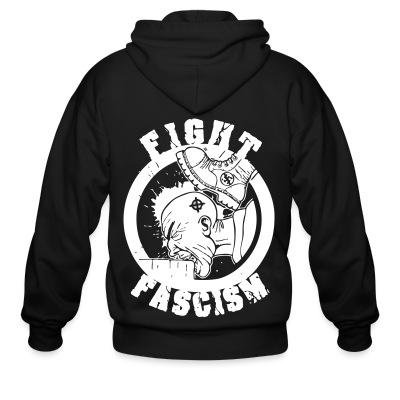 Sweat zippé Fight fascism