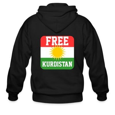 Sweat zippé Free kurdistan