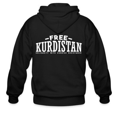 Sweat zippé Free Kurdistan! Solidarity with kurdish resistance