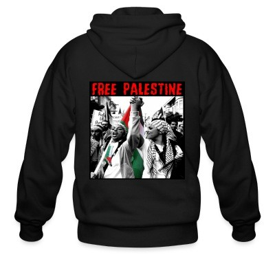 Sweat zippé Free Palestine