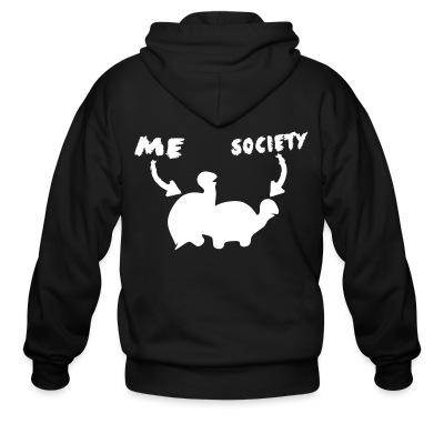 Sweat zippé Fuck society