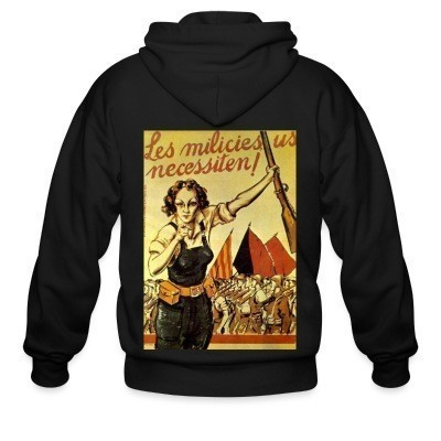 Sweat zippé Les milicies us necessiten!