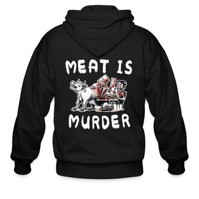 Sweat zippé Meat is murder