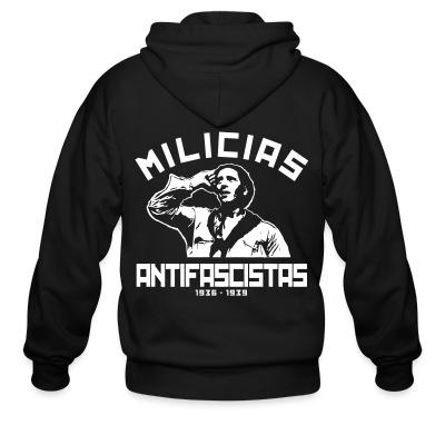 Sweat zippé Milicias antifascistas 1936-1939