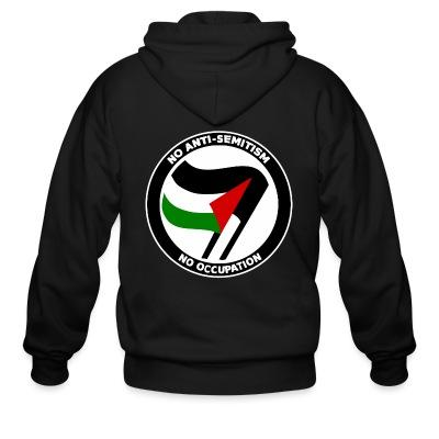 Sweat zippé No anti-semitism no occupation