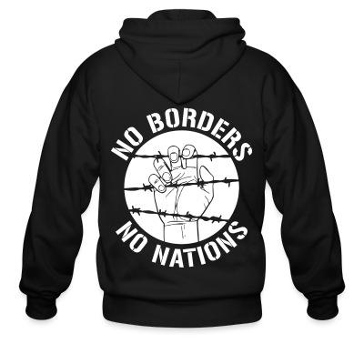Sweat zippé No borders no nations
