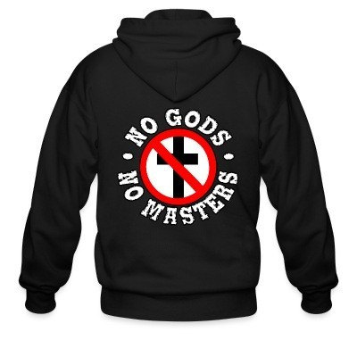 Sweat zippé No gods no masters