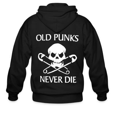 Sweat zippé Old punks never die