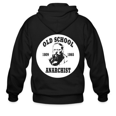 Sweat zippé PROUDHON - Old school anarchist 1809-1865