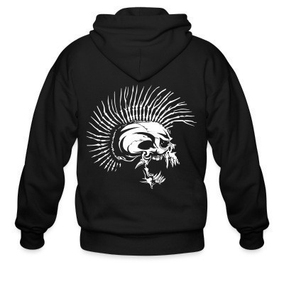 Sweat zippé Punk Skull similar to The Exploited