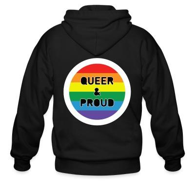Sweat zippé Queer & Proud rainbow flag