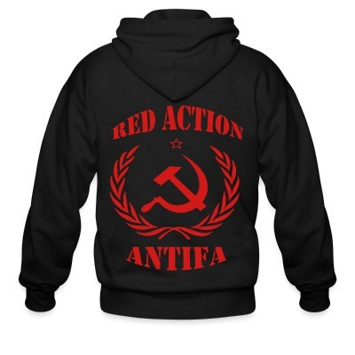 Sweat zippé Red action antifa