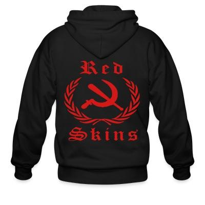 Sweat zippé Red skins