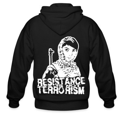 Sweat zippé Resistance is not terrorism