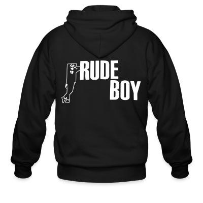 Sweat zippé Rude boy