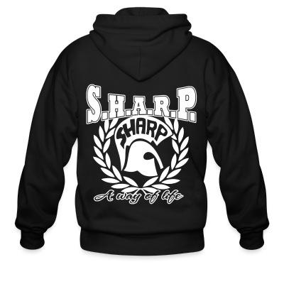 Sweat zippé S.H.A.R.P. a way of life