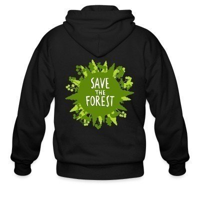 Sweat zippé Save the forest
