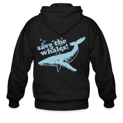 Sweat zippé Save the whales